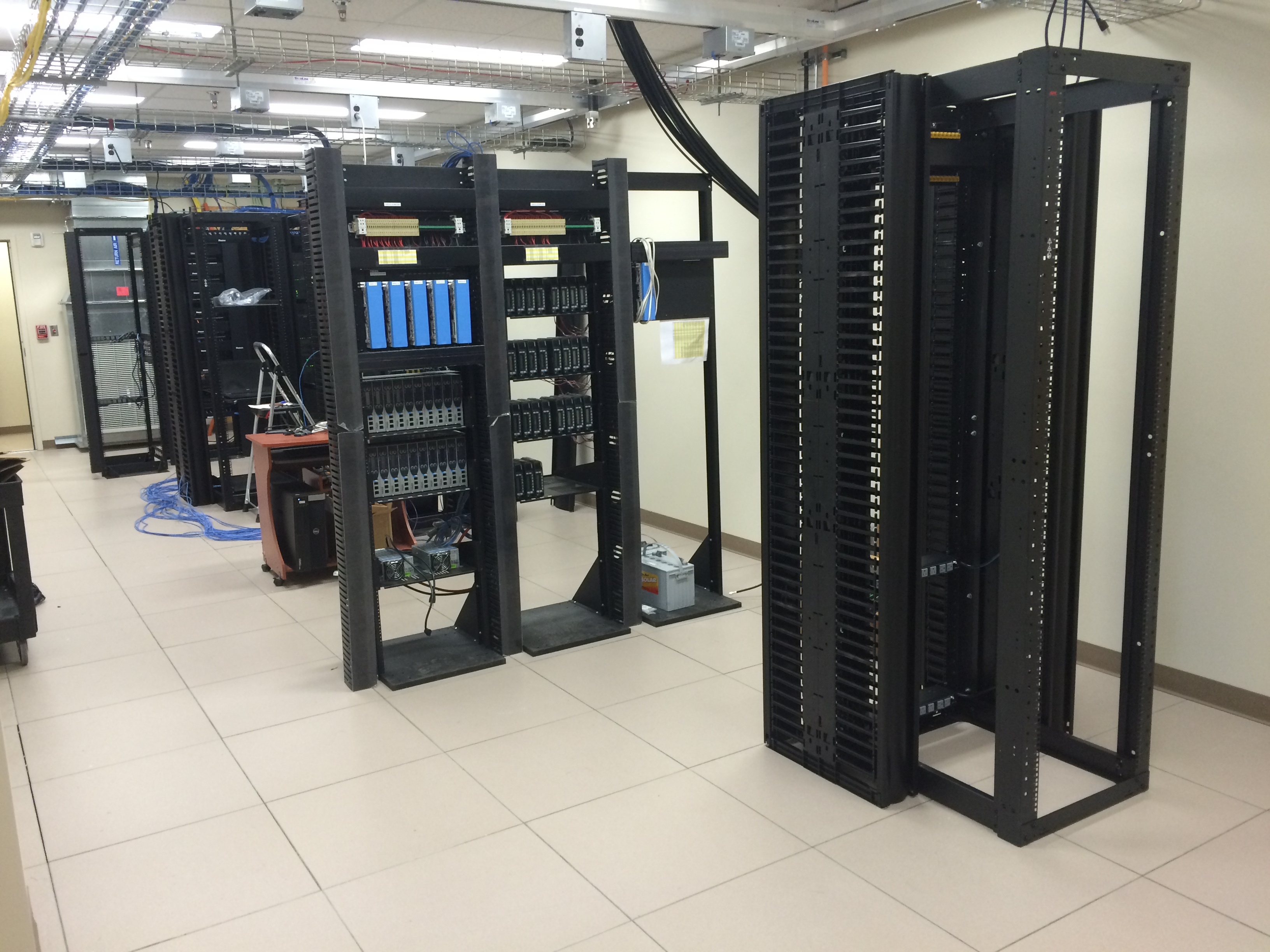 Equipment Being Installed in Server Room